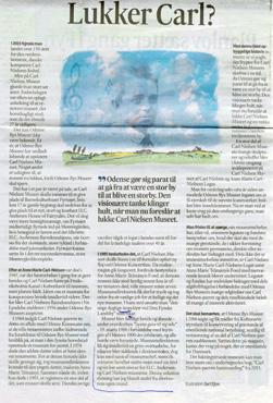 Lukker Carl Nielsen Museet? Kronik i Fyens Stiftstidende den 16. juni 2016 af Anne Christiansen